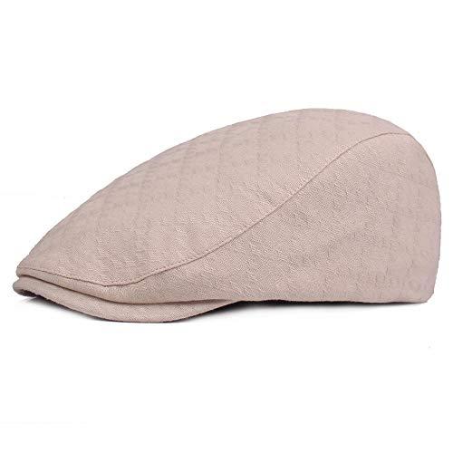 weichuang Sombreros y gorras para mujer y hombre de verano, de algodón, con visera ajustable, color beige.