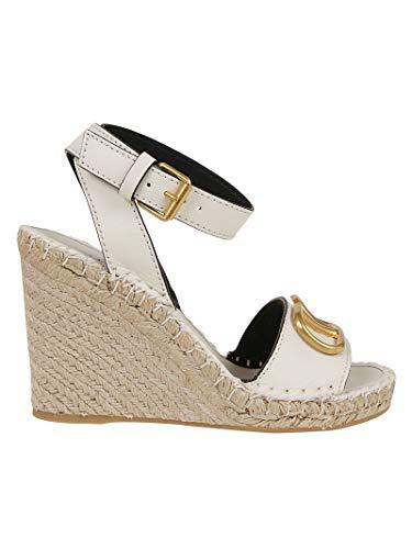 Moda De Lujo | Valentino Garavani Mujer TW2S0N73LATI16 Blanco Cuero Zapatos De Cuña | Primavera-Verano 20
