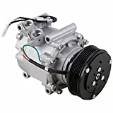 AC Compressor & A/C Clutch For Honda Civic 1.7L w/ 3-Wire Connector 2002 2003 2004 2005 - BuyAutoParts 60-01584NA NEW