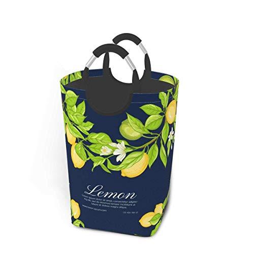Cestas de lavandería plegables, hojas de flores de limón, vector, cesto grande de lavandería sucia, plegable, plegable, plegable, plegable, tela, cesto de lavandería, para bebé, niña, niños, calcetine