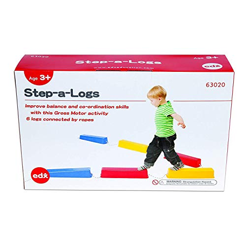 edx education 72227 Step-A-Log Model. Balance Beam for Kids - Indoor or Outdoor - Stackable - Build Coordination and Confidence - Physical and Imaginative Play