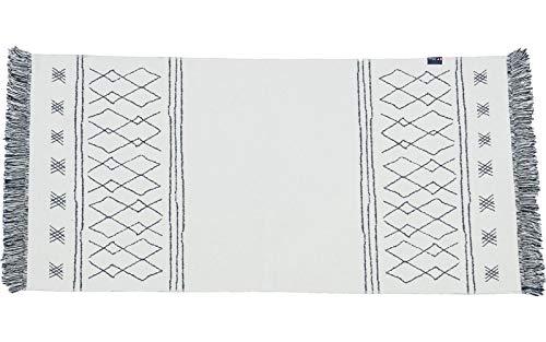 David Fussenegger - tapijt Goliath - Berber, loper met franjes ruw wit - gerecycled katoen - 150 x 75 cm