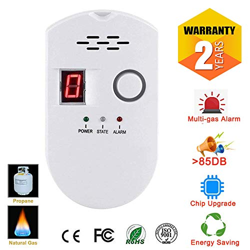 Propane | Natural Digital Gas Detector, Gas Leak Detection, Home Gas Alarm, Plug-in Digital Alarmer, High Sensitivity LPG LNG Coal Natural Gas Leak Detection, Alarm Monitor Sensor for Home | Kitchen