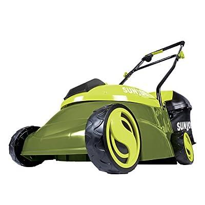 Sun Joe MJ401C 14-Inch 28-Volt Cordless Push Lawn Mower, Green
