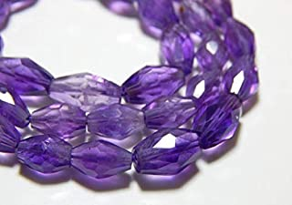 "Jewel Beads Natural Beautiful jewellery Amethyst Faceted Bicone Beads 100 Persent Natural Gemstone Size 6.2x5.mm 8"" Inches Strand.Code:- JBB-16734"