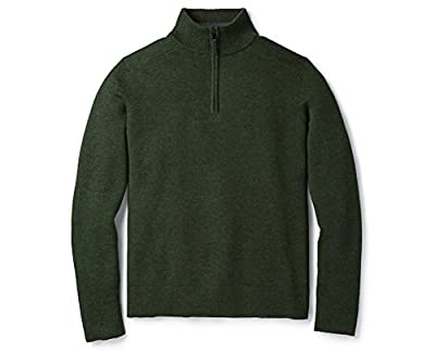 Smartwool Sparwood Half Zip Sweater - Men's Merino Wool Sweater Scarab Heather Small by Smartwool