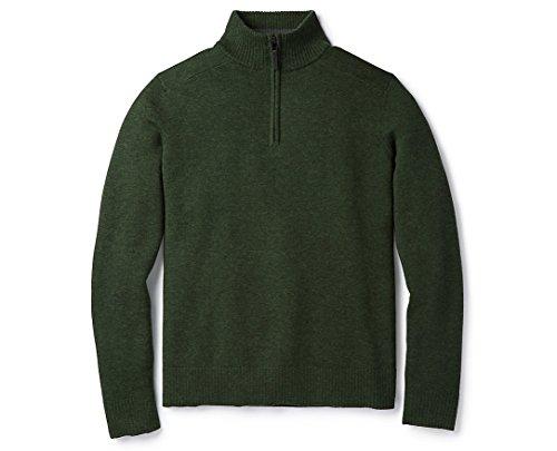 Smartwool Sparwood Half Zip Sweater - Men's Merino Wool Sweater Scarab Heather X-Large