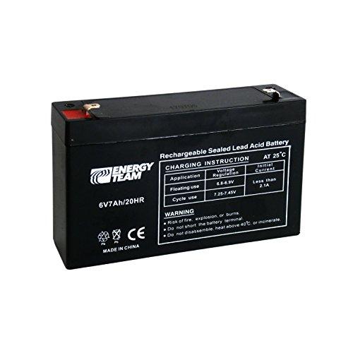 EnergyTeam - Batería hermética AGM de plomo, 6 V, 7 Ah, ref. ET6-7