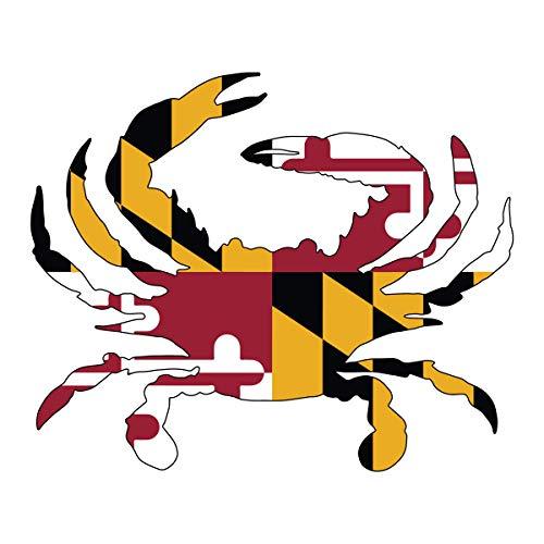 Maryland Flag Crab Die-Cut Sticker – Price Per 1