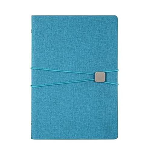 Cuadernos Cuaderno para la composición de trabajo Notebook Leaf-Hoja Cuaderno personalizado Notepadfor Home Office School Kids (9.3 pulgadas * 6.5 pulgadas) Diario (Color : Blue)