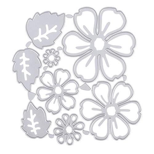 GOTH Perhk DIY Metall-Stanzformen, 3D-Blumen-Stanzschablone, Stahlschablonen für Scrapbooking, Fotoalben, Prägungen, Papierkarten, Bastelarbeiten