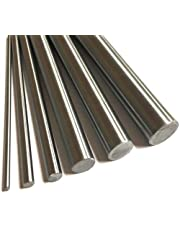 LZZR 303 roestvrij stalen staaf 2mm 3mm 4mm 5mm 6mm 7mm 8mm 10mm 12mm 16mm lineaire as Rods Metric Ronde Bar Ground 400mm lengte (Color : 5mm, Size : 400mm)