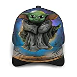 BAIKJUTOUNA Baby Yoda Star The Wars Gorra de béisbol para hombre y mujer, de verano, con impresión en 3D, ajustable, clásico, informal, color negro