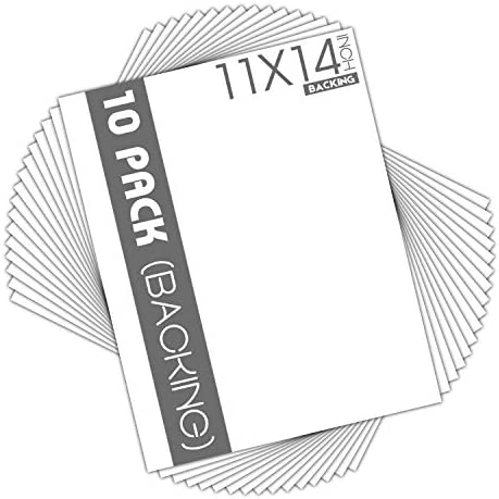 Mat Board Center White Backing Boards Full Sheet for Art Prints Photos Prints and More 10 Pack product image