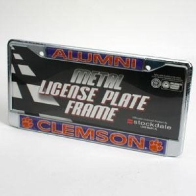Stockdale Clemson Tigers Alumni Metal License Plate Frame W/Domed Insert