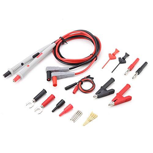 Multimeter-Kabel, P1503D Multifunktions-Multimeter-Messleitungen mit Krokodilklemmen Auswechselbare Messspitzen Set stabile Verbindung und genaue Messung