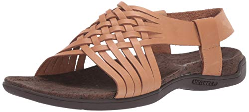 Merrell District Mahana Backstrap, Sandalias de Talón Abierto para Mujer, Marrón (Natural Tan), 39 EU