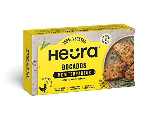 Bocados Mediterráneos HEURA 180g   100% Vegetal   Sin Gluten (Pack de 2)