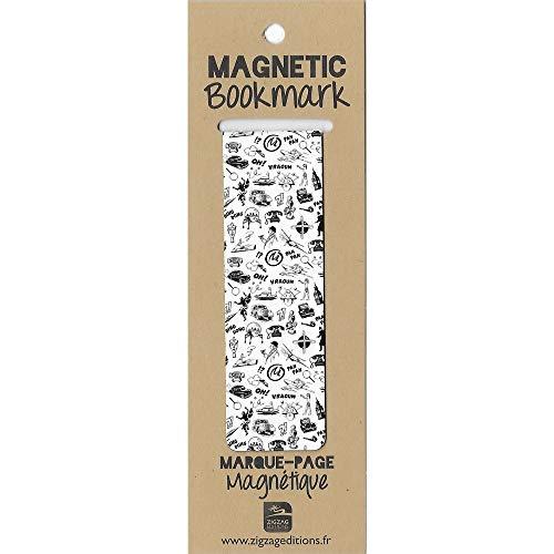 ZigZag Editions Marque-Page magnétique Blake et Mortimer, Dessins en Noir et Blanc (25x80mm)