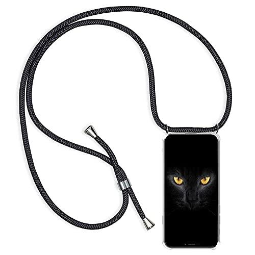 Oihxse con Cuerda Ajustable Funda Compatible con Huawei P9, Colchón de Aire Anti-Choque Anti-Rasguños Cover, Suave Transparente TPU Silicona Protection Case