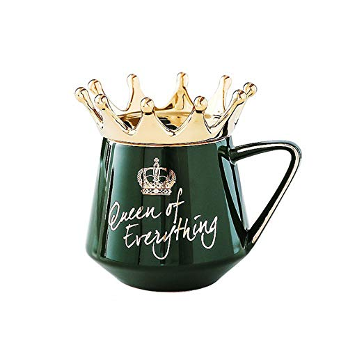 sbay Queen of Everything - Taza de café con tapa y cuchara (cerámica), diseño de Queen of Everything
