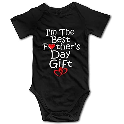 I'm The Best - Traje de bebé de manga corta para regalo del día del padre, diseño divertido y unisex