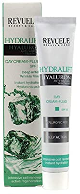 Revuele Hydralift Anti-Wrinkle DayCream-Fluid SPF15. Hydralift Hyaluron Treatment. Deep Action, Instant Hydration, Intensive Cell Renewal.