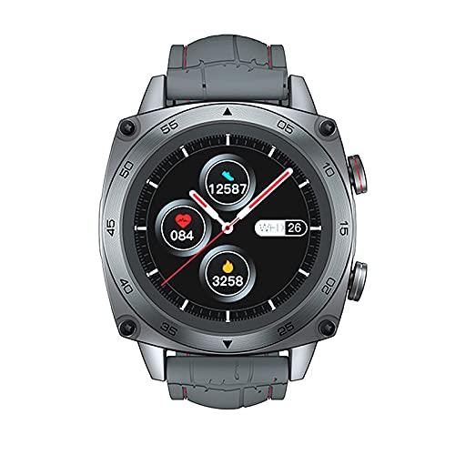 ZGZYL C3 Smartwatch 5Atm Waterproof Business Smart Watch Smart Message Notification Heart Rate Monitor Men's Fitness Tracker Smart Watch para iOS Android Smart Watch,B