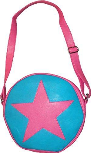 TV Store Scott Pilgrim vs. The World Ramona Flowers Star Circle Messenger Bag (Pink/Turquoise)