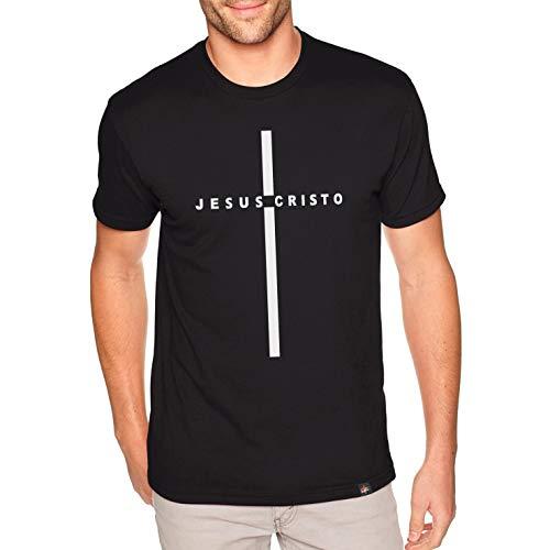 Camiseta Masculina Cristã Cruz Jesus Cristo (M)