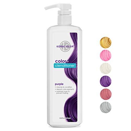 Keracolor Clenditioner PURPLE Hair Dye - Semi Permanent Hair Color Depositing Conditioner, Cruelty-free, 33.8 Fl. Oz.