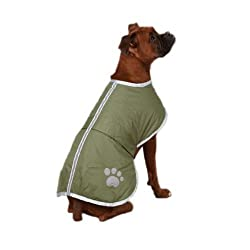 """protecting dogs from winter biting cold wind endless rain and snow Chest30""""(76cm)Neck18.5""""(47cm)Back23.6""""(60cm)(XL) Reflective stripe increases visibility for increased safety during walks waterproof reflective material design the neck and belly Velc..."""