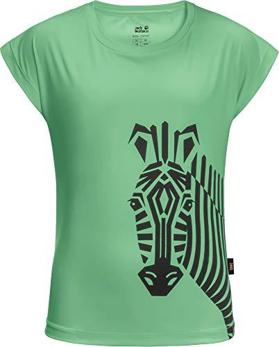 Jack Wolfskin Mädchen Zebra T-Shirt, Spring Green, 140