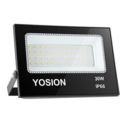 Luce di inondazione a LED da 30 W, IP66 impermeabile, luci di sicurezza esterne super luminose, per interni ed esterni, per giardino, cortile, magazzino, garage, parcheggio, ecc.