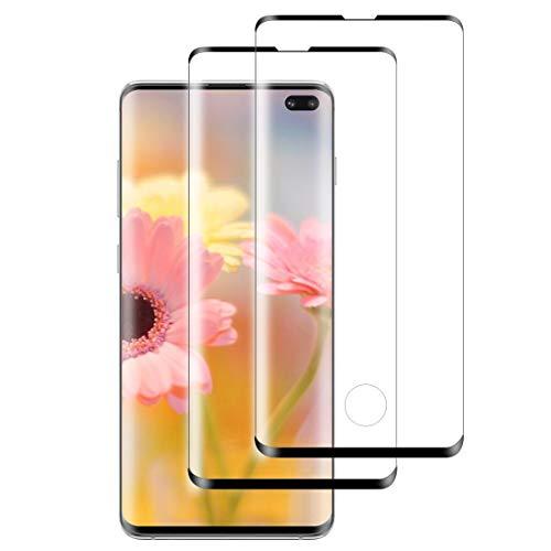 XSWO Cristal Templado Samsung S10 Plus [2 Unidades], Protector de Pantalla Samsung Galaxy S10 Plus, [3D Cobertura Completa] [Anti Arañazos] [Fácil Instalar] [Sin Burbujas] [9H Dureza] Vidrio Templado
