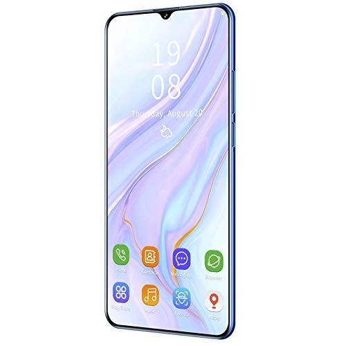 Teléfono Android, Mate43 Pro 6.26In Teléfono móvil 1 + 8GB Desbloqueo Facial Tarjeta Dual Teléfono Inteligente Desbloqueado con Doble Modo de Espera con batería de 2100mAh para Android 6(Azul)
