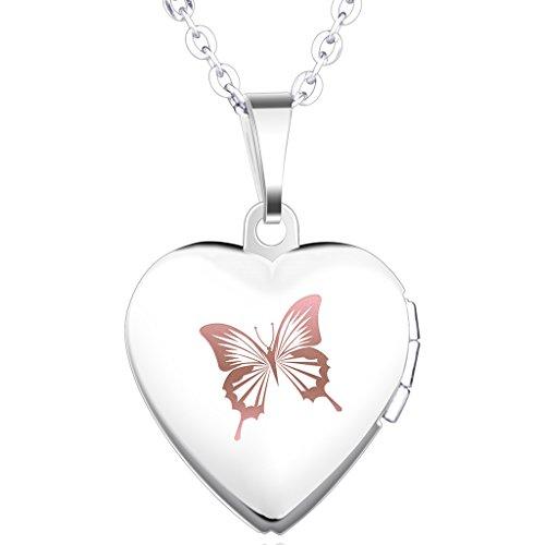 Infinite U Collier et pendentif femme fille en argent 925 le joli pendentif de papillon bijou classique