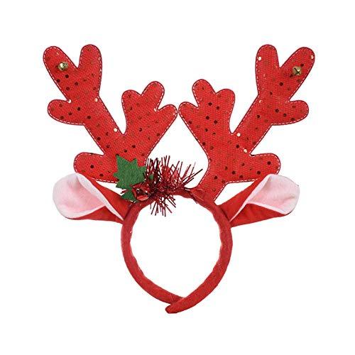 Weihnachtskopfschmuck, Elk Hirschgeweih-Haar-Reifen for Kinder Erwachsene, Weihnachtsfeier-Haarband Hüte Tiere Kopfstück for Weihnachtskostüm-Foto-Requisiten  Party Cosplay Kostüm Hairband liuchang20