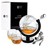 Oak & Steel Juego de Decantador Globo - Prima Cristal Vino Garrafa | Elegante Set de Regalo