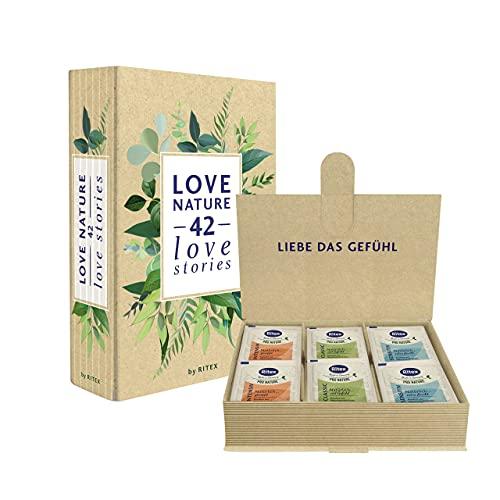 Ritex Pro Nature Kondom-Box - natürlich nachhaltige Vielfalt für mehr Abwechslung, 42 Stück, Made in Germany