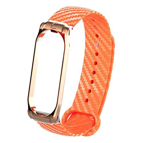 Correa de reloj de fibra de carbono de silicona para Xiaomi Mi Band 5 4 Pulsera inteligente para Mi Band 4 3 Pulsera Correa de muñeca