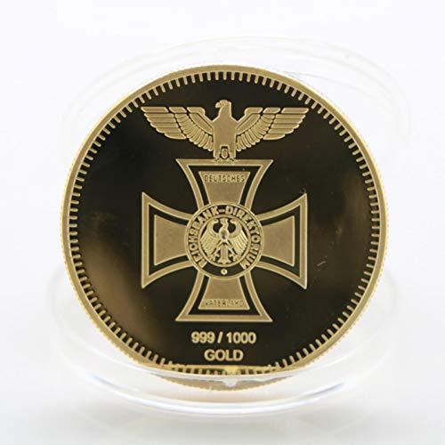 QAZPL 1891-1944 años Alemania medallas de la Segunda Guerra Mundial chapadas en Oro Erwin Rommel Mariscal del ejército Monedas conmemorativas para Recuerdo