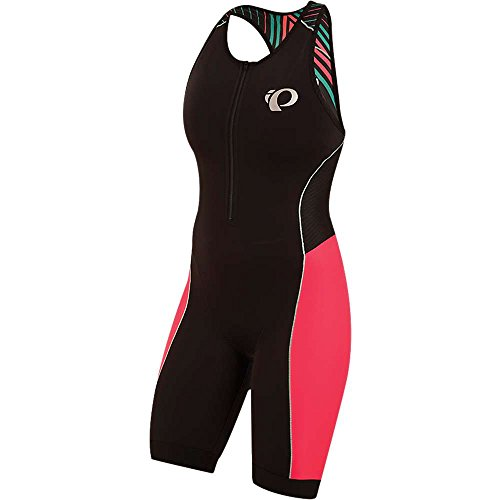 PEARL IZUMI Damen Elite Pursuit Tri Suit, Damen, Black/Atomic Red Whirl, X-Small