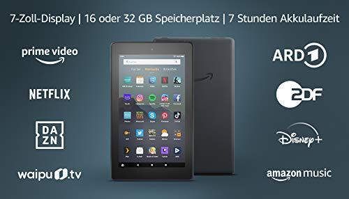 Produktbild von Fire 7-Tablet (7-Zoll-Display, 16 GB), Schwarz, Mit Werbung
