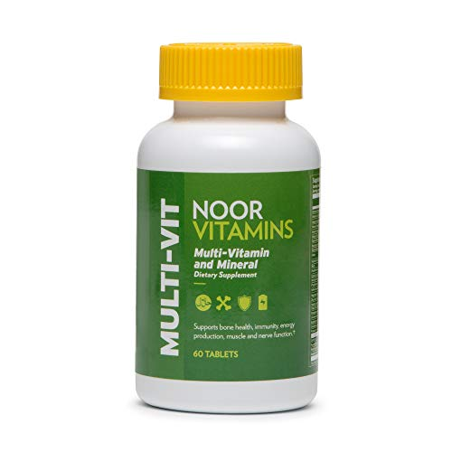 NoorVitamins Daily Adult Multivitamin Supplement w/ 30 Vitamins & Minerals including A, C, D, E, Biotin & Zinc to support general health for Men & Women I Non-GMO I Halal Multivitamin (2 Month Supply)