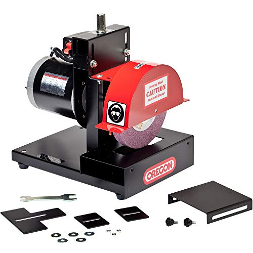 Oregon 88-025 Lawnmower Blade Grinder, S, Black & red, Metal
