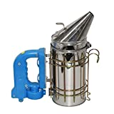 SHANG-JUN Hecha a Mano Acero Inoxidable ahumador Kit eléctrico/Fumador de la Apicultura/Herramienta de Apicultura Apicultura Durable (Color : Blue)