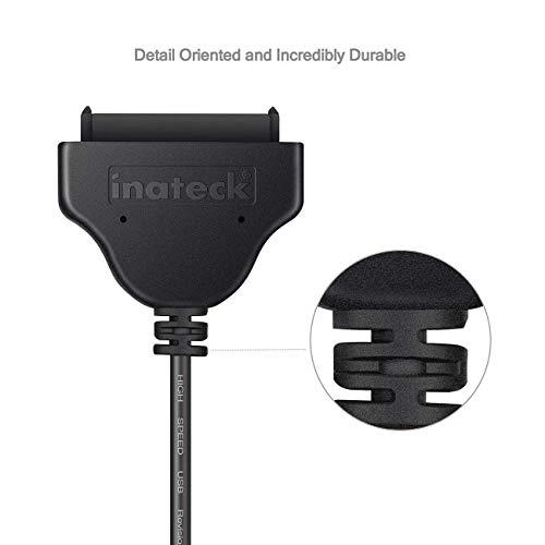 Inateck Festplatten Zubehör Gehäuse Adapter USB 3.0 zu SSD/ 2, 5-Zoll-SATA-Festplatten Adapter [optimiert für SSD, Unterstützt UASP SATA III]