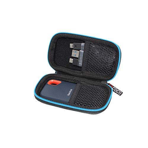 Hart Reise Fall Case Tasche für SanDisk Extreme Portable SSD 250 GB/500 GB/1 TB/2 TB von ESCOCO