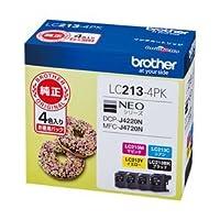 ブラザー インクカートリッジ 4色パック 型番:LC213-4PK 単位:1箱(4色パック) LC213-4PK